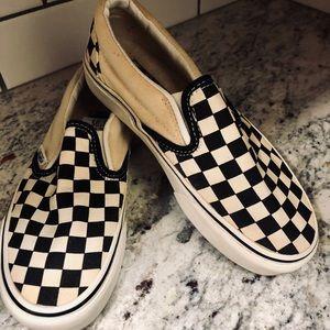 Vans - checkerboard print. New! SZ 6.5